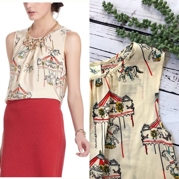d0d36030f451 Anthropologie Tops -  Anthro• Weston Wear  Painted Carousel Shell Top